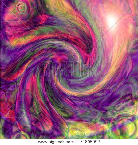 Abstract coloring   gradients background with visual lens flare and twirl effect