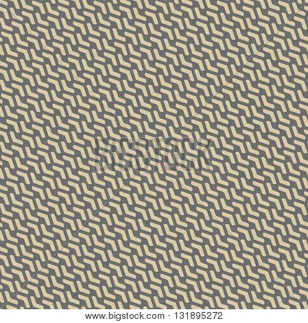 Geometric pattern with golden arrows. Seamless abstract background