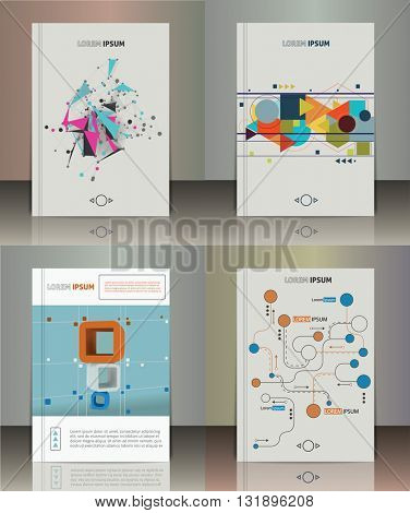 Set of the abstract brochure design. Vector illustration. Infographic elements.