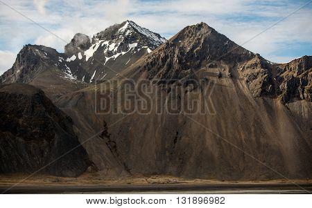 Large amazing mouintains of Iceland scenic shot