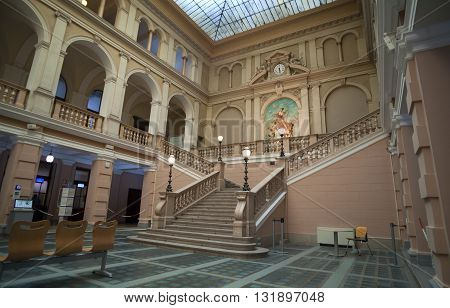 TRIESTE ITALY - MAY 04: Interior of Postal and Telegraphic Museum of Central Europe on May 04 2016