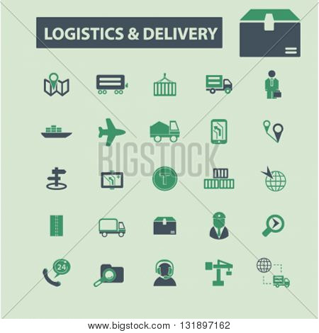 logistics & delivery icons