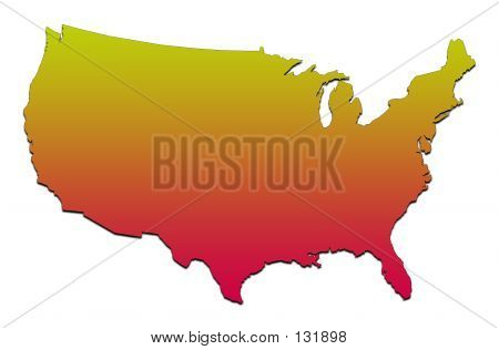 Amerika Karte
