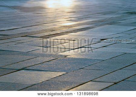 Stone sidewalk close up outdoors background photo