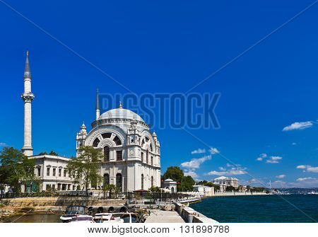 Mosque in Istanbul Turkey - architecture religion background