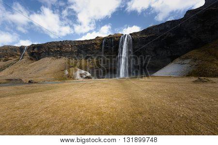 Photo of a Breathtaking Waterfall Selfoss in Iceland