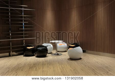 Interior Restaurant Tables In Modern