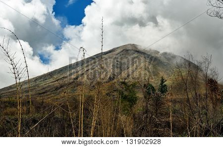 Mount Lokon In Tomohon