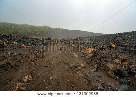 Near Tompaluan Crater Lokon-empung Volcano