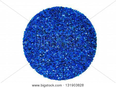 Blue silica gel desiccator background.Desiccant silica gel for keep the electronic equipments