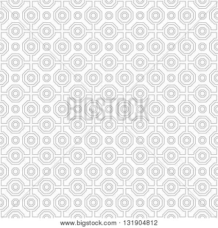 Geometric fine abstract background. Seamless modern pattern with gray octagons