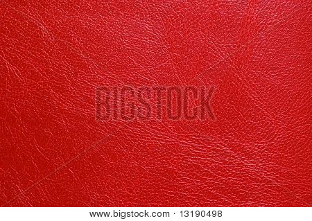 Red  leatherette texture