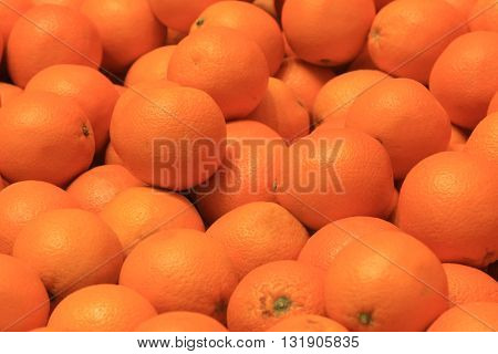 Many oranges as a background for design drawings