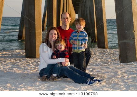 Family Beach Portrait