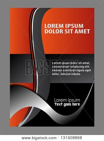 Vector Modern Flyer Design background with place for text