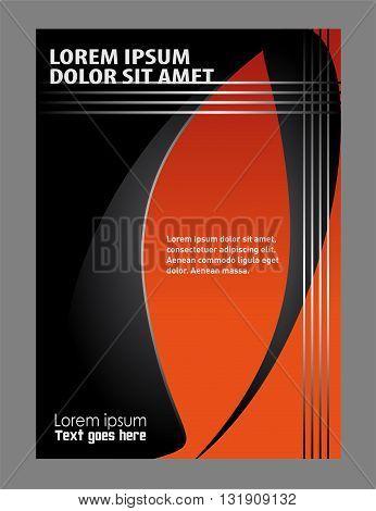 Flyer design template. Vector Flyer Poster Template background