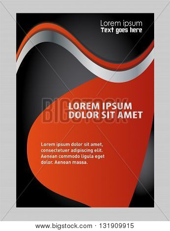 Flyer background vector illustration. Vector design flyer white place for text