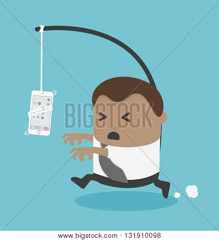Business man need New smartphone illustration vector eps .10