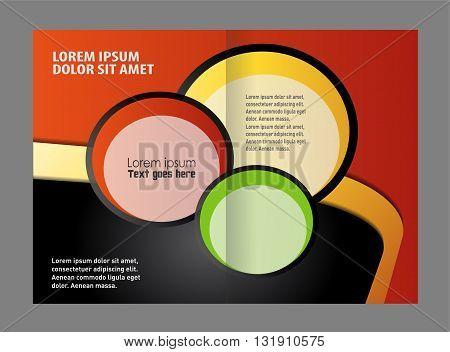 brochure template. Vector Abstract template brochure design