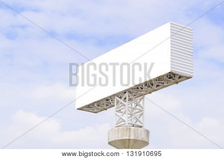 the bill board building with the skythe advertisment board building with the white background