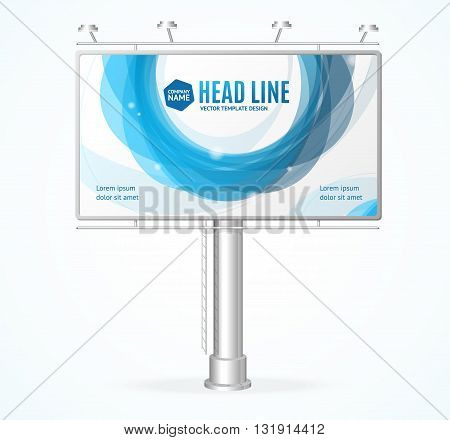 Billboard Concept with Abstract Circle. Vector illustration