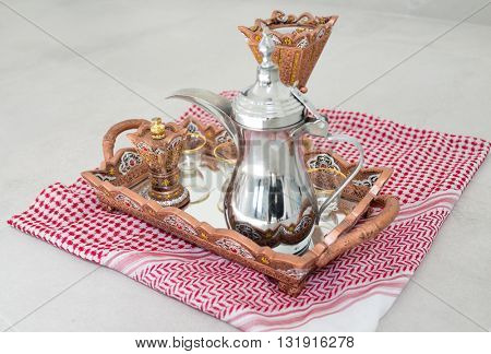 Traditional coffee in Dallah
