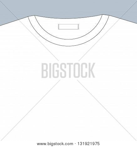 Vector blank t-shirt template. Place for print and text