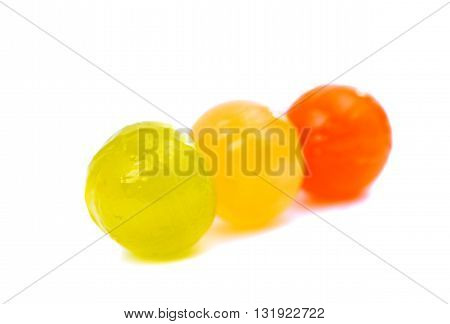 color, candy lollipops isolated on white background