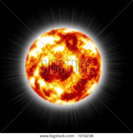 Hot Flaming Sun