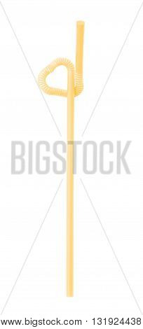 The drinking straw isolated on white background