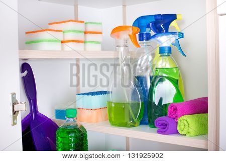 Cleaning Supplies In Pantry