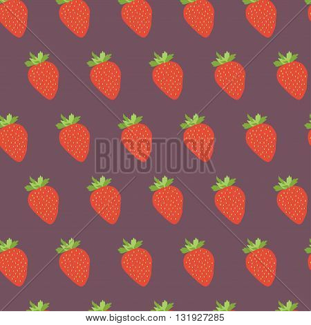 Red cherries seamless pattern. Repeatable background with tasty red cherries