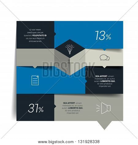 Table, chart, schedule, text banner, template. Infographics elements.