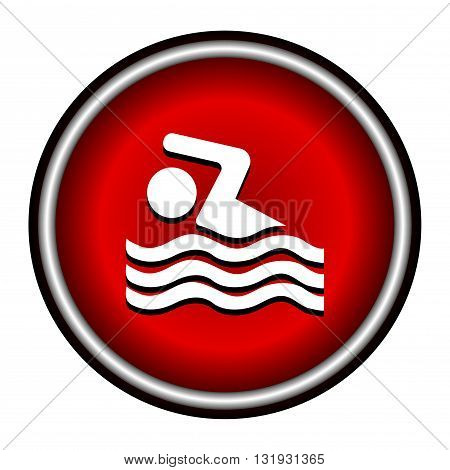 Swimming icon sign on white background, vector illustration