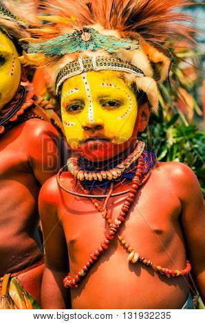 Shy Boy In Papua New Guinea