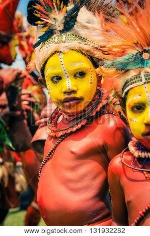 Small Boys In Papua New Guinea