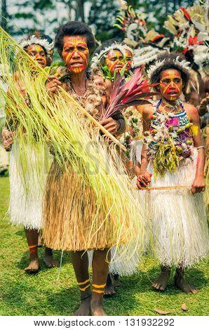 Women In Costumes In Papua New Guinea