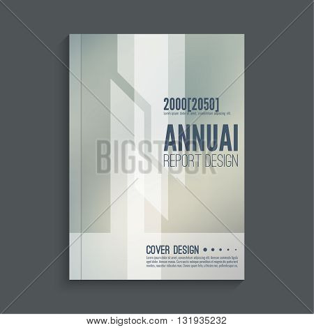 Brochure annual report. Cover for journal, book, magazine. Template. Layout  annual report cover. Leaflet cover A4. For book, brochure, flyer, poster, booklet. Vector