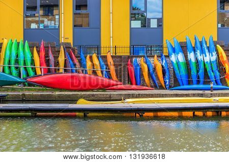 Row Of Kayaks