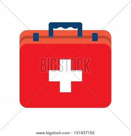 vector illustration of first aid box on white background