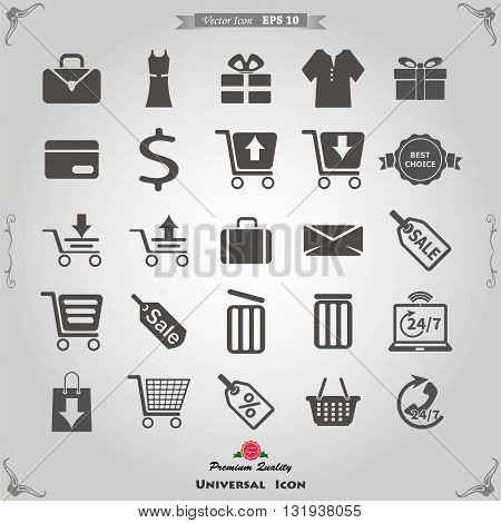 e marketing and marketing icons set. Vector icon