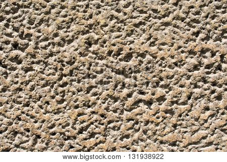 Old weathered brown plaster wall - background texture