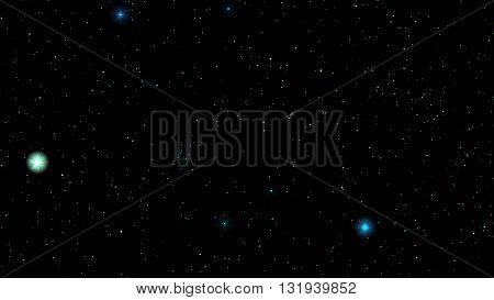 Night sky. Stars in night sky. Background illustration vector format