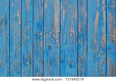 blue wooden planks, wooden background with scrathes