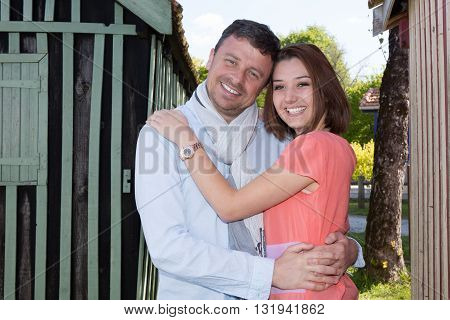 Summer Holidays, Dating, City Break And Tourism Concept - Couple In Love