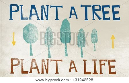 Forest Protection Planting Trees Environment Concept