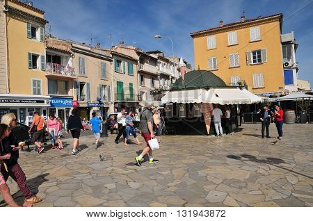 Sanary sur Mer France - april 20 2016 : the picturesque city in spring