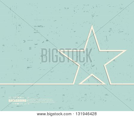 Creative vector star. Art illustration template background. For presentation, layout, brochure, logo, page, print, banner, poster, cover, booklet, business infographic, wallpaper, sign, flyer.