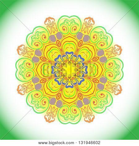 Decorative Colorful Mandala.