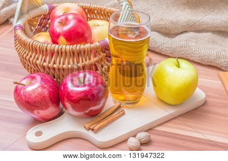 Cider - Hot Alcohol Apple Beverage.